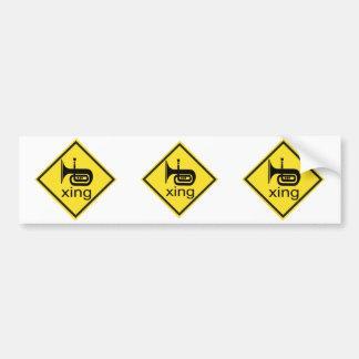 Tuba Crossing Xing Traffic Sign Bumper Sticker