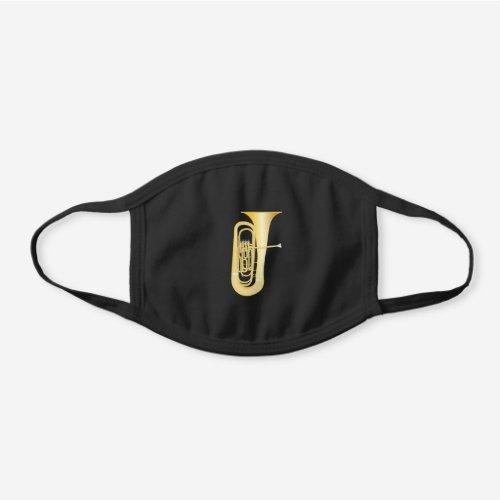 Tuba Cute Music Teacher Band Black Cotton Face Mask