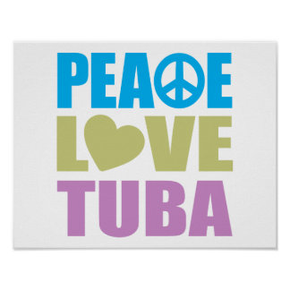 Tuba del amor de la paz poster
