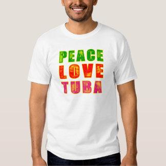 Tuba del amor de la paz remera