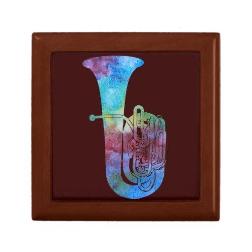 Tuba del arco iris joyero cuadrado pequeño