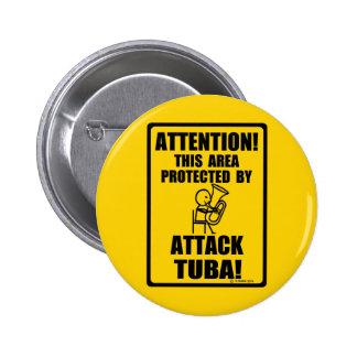 Tuba del ataque pins