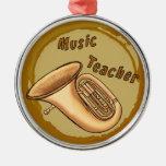 Tuba del profesor de música adorno para reyes