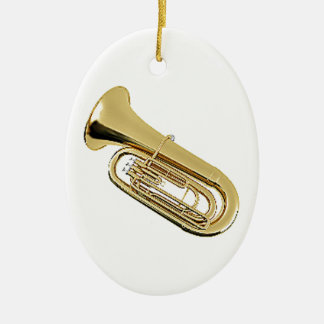 """Tuba"" design gifts and products Ceramic Ornament"