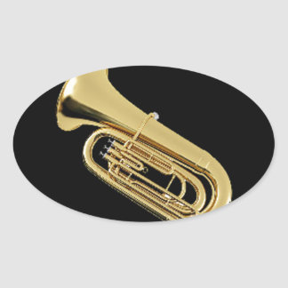 """""""Tuba"""" design gifts and products Oval Sticker"""