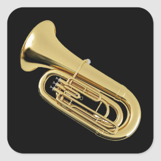 """""""Tuba"""" design gifts and products Square Sticker"""