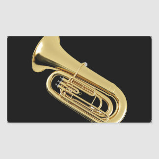 """""""Tuba"""" design gifts and products Rectangular Sticker"""