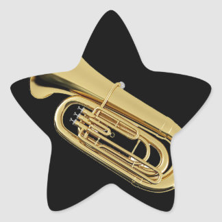 """""""Tuba"""" design gifts and products Star Sticker"""