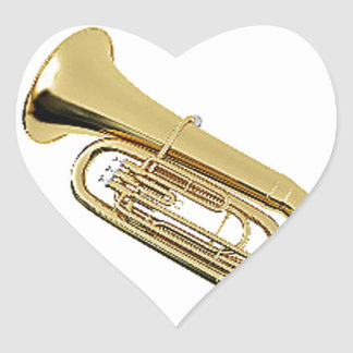 """""""Tuba"""" design gifts and products Heart Sticker"""