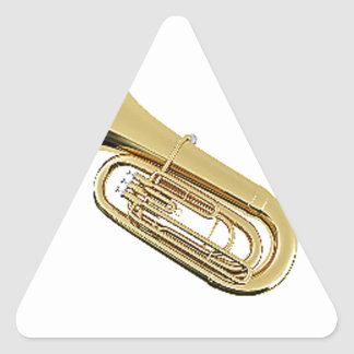 """""""Tuba"""" design gifts and products Triangle Sticker"""