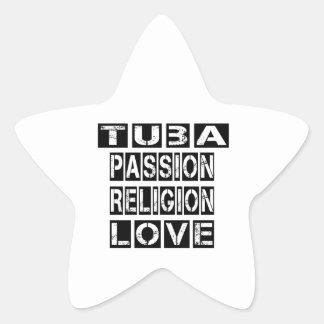 Tuba Designs Star Sticker