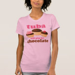 Tuba divertida del chocolate camisetas