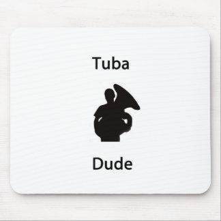 Tuba dude mouse pad