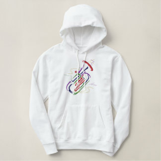 Tuba Embroidered Hoodie