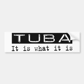 Tuba es pegatina de parachoque