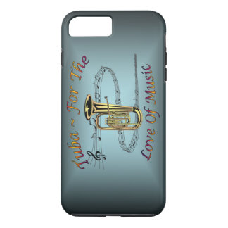 Tuba ~ For The Love Of Music ~ Musical Scale ~ iPhone 8 Plus/7 Plus Case