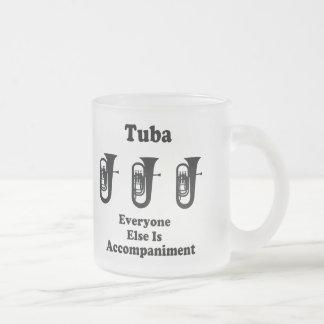 Tuba Gift 10 Oz Frosted Glass Coffee Mug
