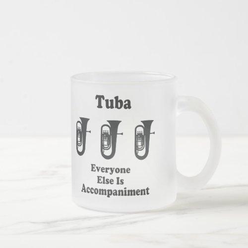Tuba Gift Frosted Glass Coffee Mug