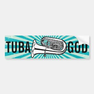Tuba God Bumper or Case Sticker