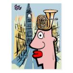 Tuba Head In London Post Cards