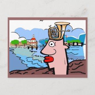 Tuba Head Remembers The Point postcard