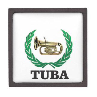 tuba in a frame jewelry box