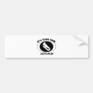 tuba instrument designs bumper sticker
