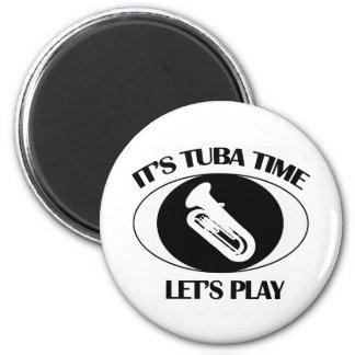 tuba instrument designs fridge magnet
