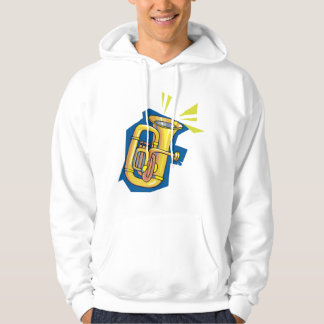 Tuba Instrument Mens Hoodie