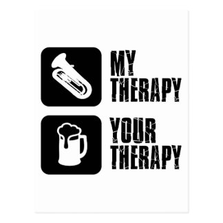 tuba is my therapy postcard
