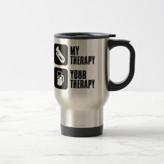 tuba is my therapy travel mug