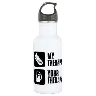 tuba is my therapy water bottle