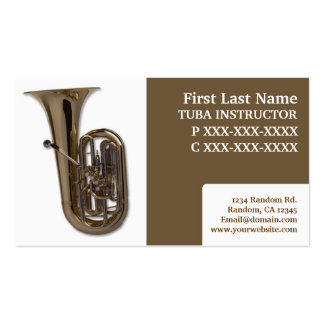 Tuba lessons professional business cards