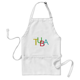 TUBA Letters Adult Apron