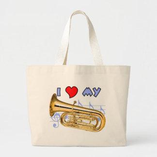 Tuba Love Large Tote Bag