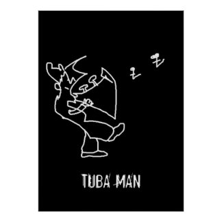 Tuba Man Poster