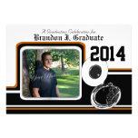 Tuba Marching Band Graduation Photo Orange Personalized Invitation