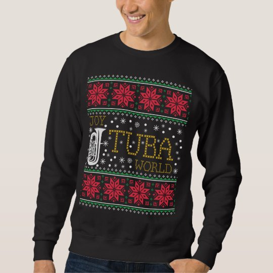 Band Ugly Christmas Sweaters.Tuba Marching Band Ugly Christmas Sweater Gift