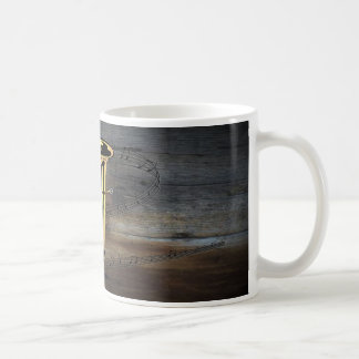 Tuba ~ Musical Scale ~ Barnwood Background Coffee Mug