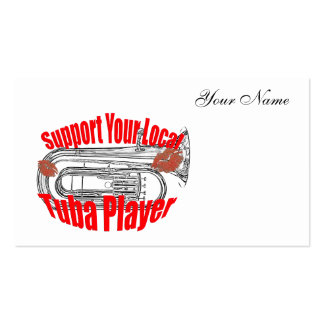 """Tuba Musician """"Support Tubas""""  Business Cards"""