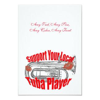 "Tuba Musician ""Support Tubas""  Invitation Cards"