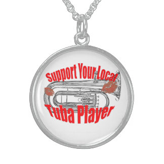 """Tuba Musician """"Support Tubas""""  Jewelry Necklace"""