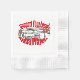 "Tuba Musician ""Support Tubas""  Kitchen Dining Napkin"