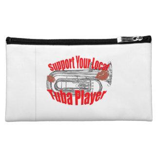 "Tuba Musician ""Support Tubas""  Tote Bag Cosmetics Bags"