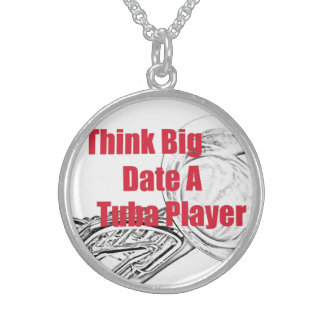 """Tuba Musician """"Think Big""""  Jewelry Necklace"""
