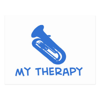 Tuba my therapy designs postcard