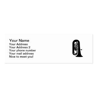 Tuba negra tarjeta de visita
