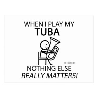 Tuba Nothing Else Matters Postcard