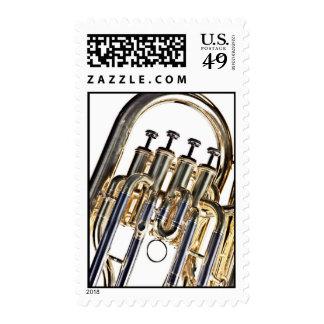 Tuba on White background Postage