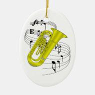Tuba Ornament